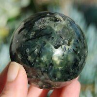 "Large 2.25"" 353g Prehnite and Epidote Crystal Sphere"