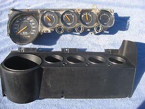 1970- 1974 Dodge challenger Plymouth cuda speedometer gauges dash bezel
