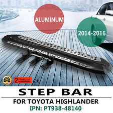 OE Aluminum Style Running Boards Side Step Nerf Bars 2014-2018 Toyota Highlander