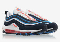 NIKE KIDS AIR MAX 97 - UK 6/US 6.5/EUR 39 - BLUE/WHITE/ORANGE (BQ7551-100)