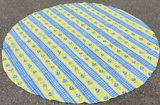 """68"""" Round Blue/Yellow Printed polyester tablecloth"""