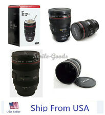 Canon Caniam Camera Lens EF 24-105mm Macro Thermos Travel Tea  Coffee Mug USA US