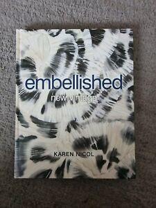 Karen Nichol Embellished New Vintage Book