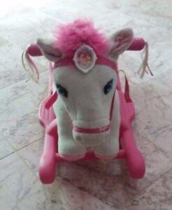 Kiddieland My Rocking Disney Princess Plush Pony + Sound White & Pink
