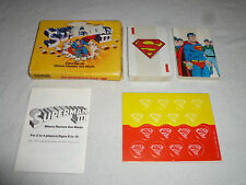 VINTAGE BOXED SUPERMAN III CARD GAME PARKER BROTHERS 1983 DC COMICS NO 0718