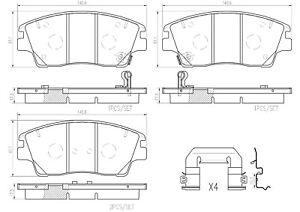 Brembo Front Ceramic Disc Brake Pad Set For Hyundai Elantra Tucson Kia Sportage