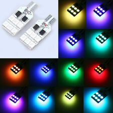 T10 RGB 5050 12 LED Lamp Car Interior Light with Remote Control 12V Universal