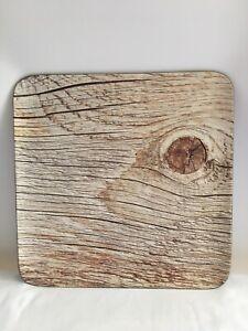 "NEW Rak porcelain Wood Art Acacia Square Platter 13"""