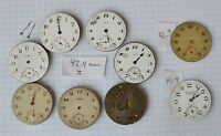 9-LOT Various Swiss Made 16s 43mm Vintage Pocket Watch Movements parts repairs