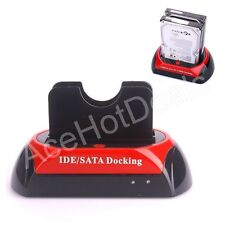"Dual 2.5""/3.5"" IDE SATA HDD Hard Drive Disk All In 1 Clone Dock Docking Station"