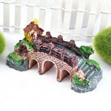 Aquarium Resin Bridge Landscape Fish Tank Pavilion Ornaments Tree DIY Decoration