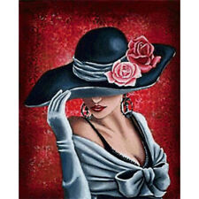 5D Diamond Painting Full Drill DIY Wall Decors Woman with Hat Cross Stitch Kits