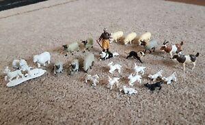 Vintage Britains Farm Animals Sheepdog Sheep Shepherd Lamb Goat Ram
