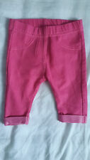 Baby girl pink jeggings size Newborn by Nutmeg