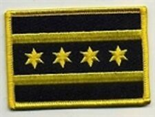 Chicago Illinois Flag Patch, Black & Yellow,Motorcycle Club Colors,Biker patches