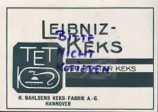 HANNOVER, Werbung 1928, H. Bahlsen Bahlsens Butter-Keks-Fabrik AG Leibniz-Keks
