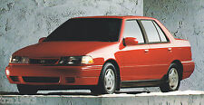 big 1992 HYUNDAI EXCEL Brochure/Catalog with Color Chart: GL,GS