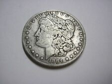 Circulated 1884 Morgan Silver Dollar Ungraded Uncertified Business Strike