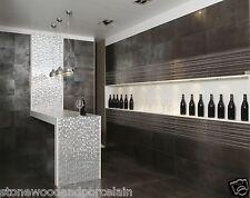 In metallo effetto matt 600x300x10mm Porcellana Pavimento & Muro Piastrelle £ 34.99 per mq