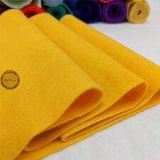 Roll By the Yard Soft Felt Fabric Non woven Sheet Wool Blend Craft DIY Material