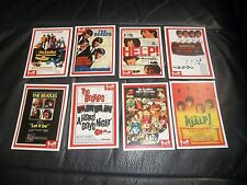 "THE BEATLES FAMOUS MOVIE POSTERS ""RARITIES"" TRADING CARDS  FULL SET OF 8 CARDS"