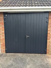 Designer Insulated Side Hinged Garage Door Steel Side Hung Opening Double Skin