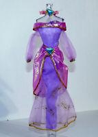 Disney ALADDIN JASMINE Fashion Dress Apron Headband Jewel Lavender