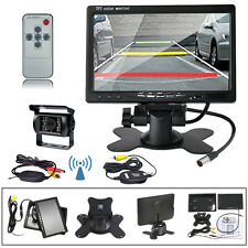 "Wireless Back up Rear View Camera Night Vision +7"" Monitor for RV Truck Bus"