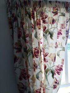 Laura Ashley gosford Cranberry Curtains