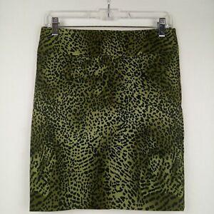 Body Central Skirt Junior Size 3 Green Leopard Print