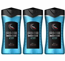 3 x Axe Sport Blast Shower Gel / Body Wash 250ml = 8.45 oz / Each