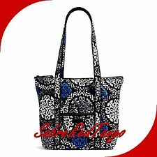 NWT VERA BRADLEY QUILTED VILLAGER TOTE PURSE FLORAL CANTERBERRY COBALT