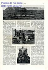 By submarine in the arctic ocean XL german report 18 images WW 1 torpedo war