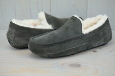 UGG ASCOT ESPRESSO SUEDE  SHEEPSKIN SLIPPERS MOCCASIN MENS US 9 NEW