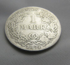 Schöne alte 1 Mark Münze D 1874 Deutsches Reich Kaiserreich kleiner Adler Selten