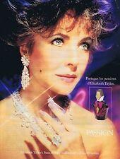 PUBLICITE ADVERTISING 045 1990 ELIZABETH TAYLOR le parfum eau de toilette