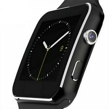 Bluetooth Smart Watch Phone Mate For Android Smartphone Mobiles Leather Band