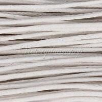 White 10M 1mm 1.5mm Wax Coated String Cotton Waxed Cord Jewelry Bracelet Making