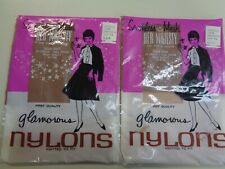 New listing 2 Pair of Vintage garter thigh high nylon stockings size 9-1/2 unused