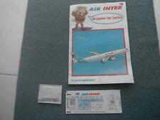 LE JOURNAL DES JUNIORS JEUX COMPAGNIE AIR INTER 1994 + BILLET AVION + POCHETTE