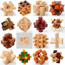 Ming Luban Lock Wood Toy 3D Wooden Puzzles Wooden Cube Educational Set Kids