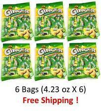 6 Bags - Ginger Coconut Hard Candy Keo Gung Dua 4.23 oz