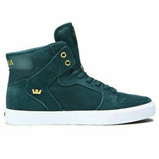 NEW Supra Men's Vaider Hi Top Sneaker Shoes Evergreen/Gold-White Green SIZE 8.5