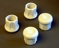 """Four 1"""" Rubber Tips- Cane, Crutch or Chair- White CT-100-W"""