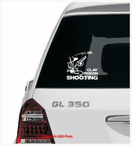CLAY PIGEON SHOOTING hunting skeet trap shootgun - car sticker decal