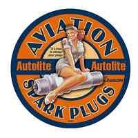 "AUTOLITE SPARK PLUGS vinyl sticker decal 6"" full color"