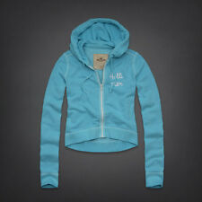 Hollister by Abercrombie & Fitch Hoodie Sweat Jacket size L Turquoise Blue NWT
