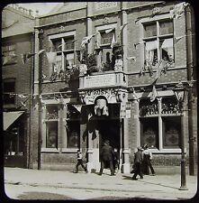 RARE Glass Magic Lantern Slide BEEHIVE PUB STOCKPORT 1897 VICTORIAN PHOTO