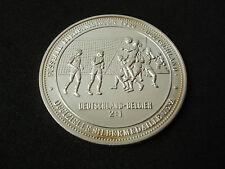 Germany - Belgium, 1987, UEFA proof silver medal, 20 g, football, 1988 Cup