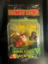 1999 Donkey Kong Banana Flingin' Diddy Kong Action Figure Toy Site Sealed New